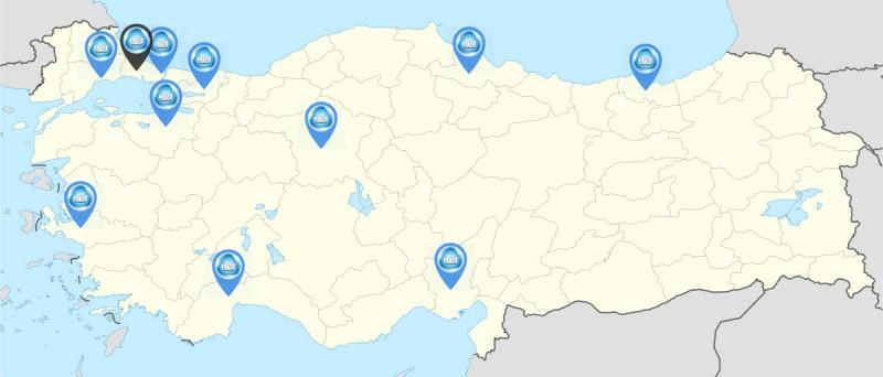Net Kurumsal Türkiye genelindeki yemek üretim mutfakları